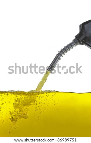 Benzin mit Zapfpistole - stock photo