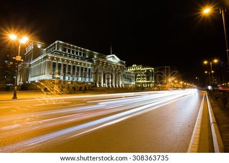 Beoutifule building. The Supreme Court of the Republic of Azerbaijan - stock photo