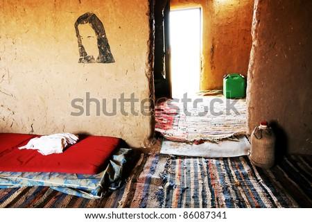 Berber room, Sahara Desert, Africa - stock photo