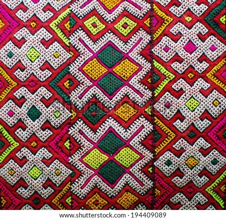 Berberian carpet (Morocco) - stock photo