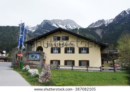 Berchtesgaden, Germany- April 29th 2012:  the Jennerbahn cable car is your gateway to extraordinary alpine adventure
