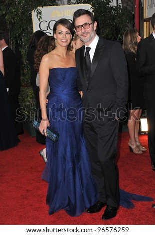 Berenice Bejo & Michel Hazanavicius at the 69th Golden Globe Awards at the Beverly Hilton Hotel. January 15, 2012  Beverly Hills, CA Picture: Paul Smith / Featureflash