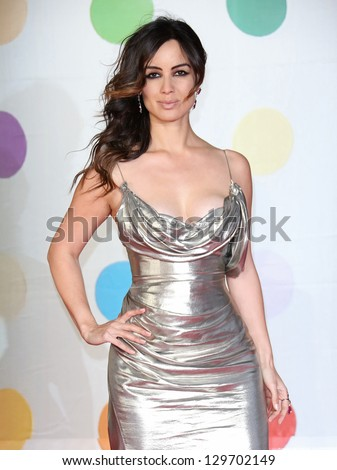 Berenice Marlohe arriving for the Brit Awards 2013 at the O2 Arena, Greenwich, London. 20/02/2013 Picture by: Henry Harris