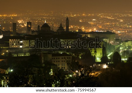 Bergamo Alta at night