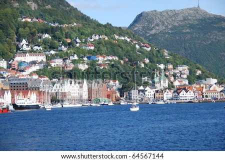 BERGEN, NORWAY - CIRCA AUGUST 2008: Beautiful views of city circa August, 2008 in Bergen. Bergen is the second largest city in Norway