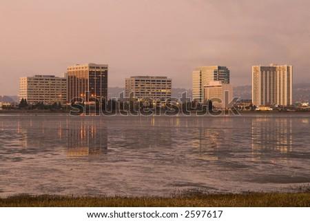 Berkeley at sunset - stock photo