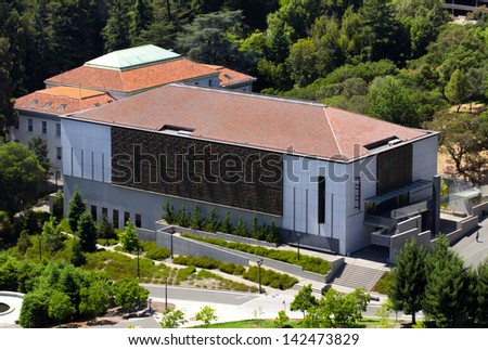 BERKELEY, CA/USA - JUNE 15: The C. V. Starr East Asian Library on the campus of University of California at Berkeley holds vast collections of East Asian manuscripts and artifacts. June 15, 2013. - stock photo