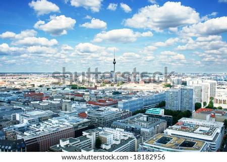 Berlin bird's-eye view. Germany - stock photo