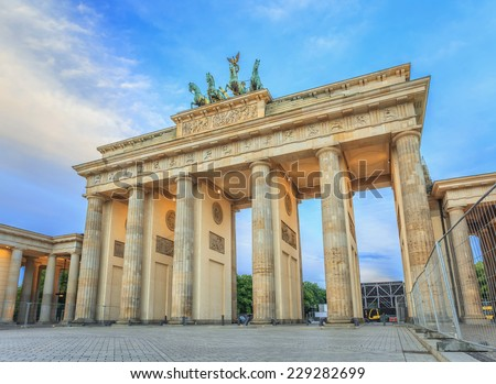 Berlin Brandenburg Gate, Germany - stock photo