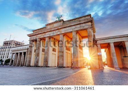 Berlin, Brandenburg gate, Germany - stock photo