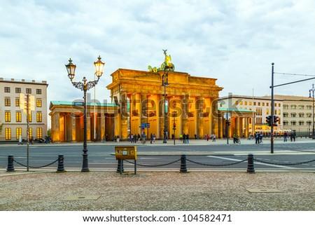 Berlin, Brandenburger Tor - stock photo