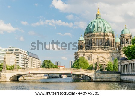 Berlin Cathedral at famous Museum Island, Germany - stock photo