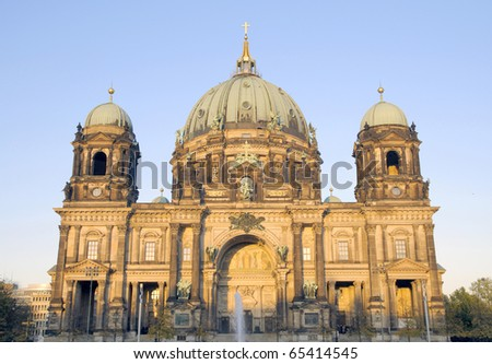 Berlin Cathedral (Berliner Dom) on a sunny evening; Berlin, Germany