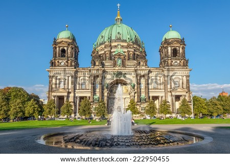 Berlin Cathedral, German Berliner Dom on Museum Island, Berlin, Germany - stock photo