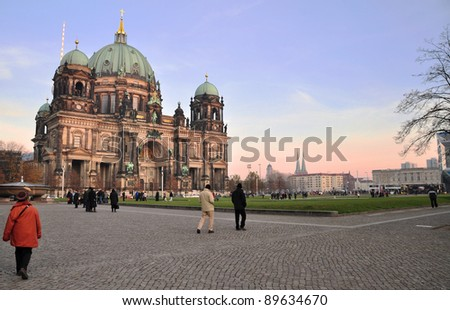 Berlin Cathedral - Germany - stock photo