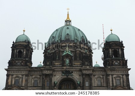 Berlin Cathedral in Berlin, Germany. - stock photo