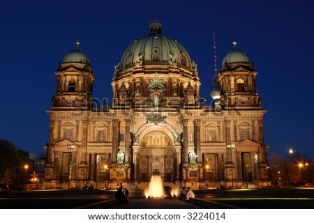 Berlin Cathedral in Berlin, Germany - stock photo