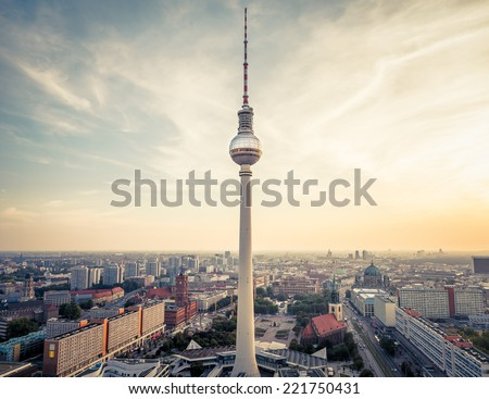 Berlin city, Germany - stock photo