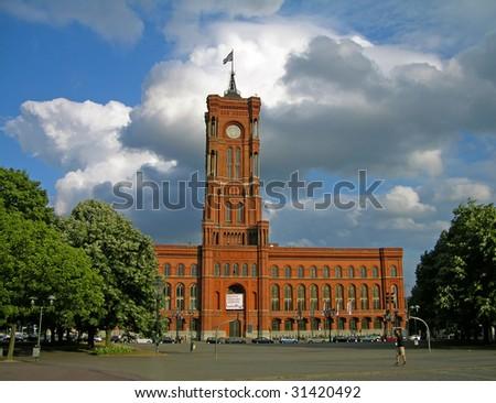 Berlin City Hall (Rathaus) - stock photo