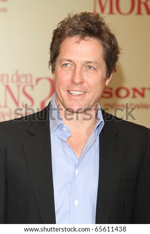 BERLIN - DEC 4: Hugh Grant at the photocall to promote his film 'Did You Hear About the Morgans?' at Hotel de Rome. December 4, 2009 in Berlin - stock photo