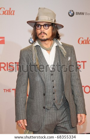BERLIN - DECEMBER 14: Johnny Depp attends the 'The Tourist' European premiere at CineStar on December 14, 2010 in Berlin, Germany. - stock photo