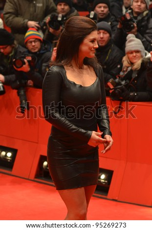 BERLIN - FEB 15: Gina Carano arrives for the screening of Haywire at Berlin Film Festival Feb 15, 2012, Berlin, Germany - stock photo