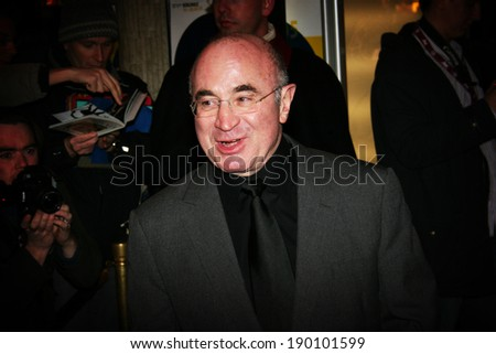 BERLIN - FEBRUARY 13: Actor Bob Hoskins arrives at the 'Beyond The Sea' Premiere at the Zoo Palast during the 55th annual Berlinale International Film Festival on February 13, 2005 in Berlin, Germany - stock photo