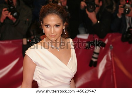 BERLIN - FEBRUARY 15:  Jennifer Lopez attends the premiere to promote the movie 'Bordertown' during the 57th Berlin  Film Festival  on February 15, 2007 in Berlin, Germany - stock photo
