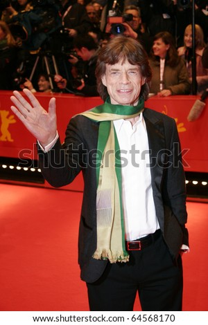 BERLIN - FEBRUARY 7: Mick Jagger attends the 'Shine A Light' Premiere as part of the 58th Berlinale Film Festival at the Berlinale Palast on February 7, 2008 in Berlin, Germany - stock photo