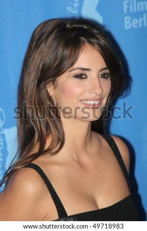 BERLIN - FEBRUARY 10: Penelope Cruz attends the 'Elegy' photocall during day four of the 58th Berlinale Film Festival held at the Grand Hyatt Hotel on February 10, 2008 in Berlin, Germany - stock photo