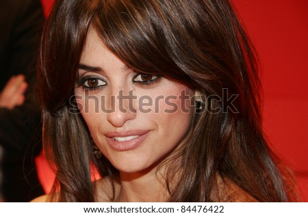 BERLIN - FEBRUARY 10: Penelope Cruz attends the 'Elegy' Premiere at the 58th Berlinale Film Festival at the Berlinale Palast on February 10, 2008 in Berlin, Germany. - stock photo
