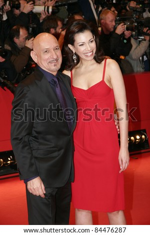 BERLIN - FEBRUARY 10: Sir Ben Kingsley and his wife Daniela Lavender attend the 'Elegy' Premiere at the 58th Berlinale Film Festival at the Berlinale Palast on February 10, 2008 in Berlin, Germany.