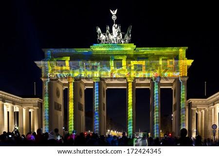 berlin festival of lights - stock photo