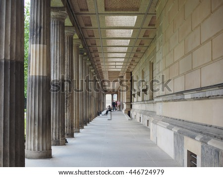 BERLIN, GERMANY - CIRCA JUNE 2016: Neues Museum (meaning New Museum) in Museumsinsel in Berlin Germany