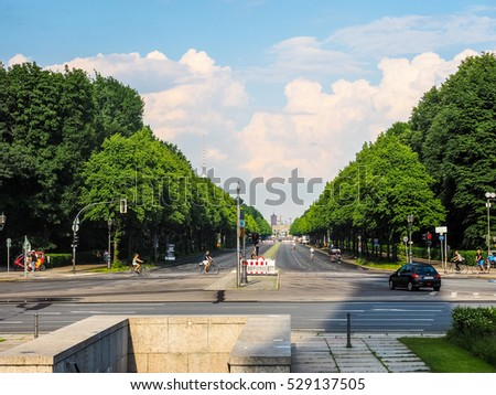 BERLIN, GERMANY - CIRCA JUNE 2016: Tiergarten park (HDR)