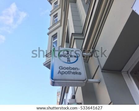 Berlin Germany December 2 2016 Bayer Stock Photo Royalty Free