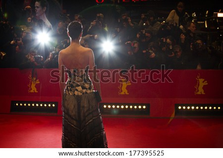 BERLIN, GERMANY - FEBRUARY 12:  A general view of atmosphere the 'Aloft' premiere during 64th Berlinale Festival at Berlinale Palast on February 12, 2014 in Berlin, Germany. - stock photo