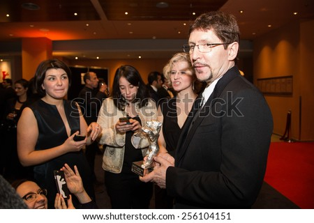BERLIN, GERMANY - FEBRUARY 14:  A. Saveliev, Silver Bear for Outstanding Artistic Contribution. Closing Ceremony. 65th Berlinale International Film Festival on February 14, 2015 in Berlin, Germany