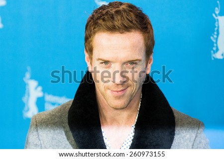 BERLIN, GERMANY - FEBRUARY 06: Actor Damian Lewis attends the 'Queen of the Desert' photo call during the 65th Film Festival at Hyatt Hotel February 6, 2015 in Berlin, Germany. - stock photo