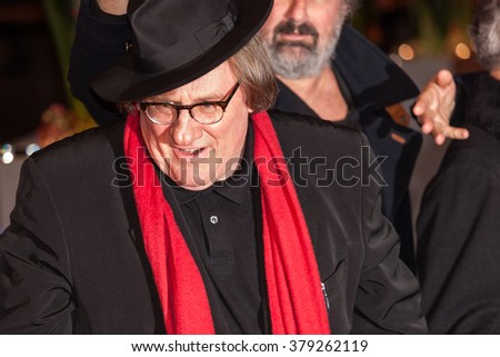 Berlin, Germany - February 19, 2016  - Actor Gerard Depardieu attends the 'Saint Amour' premiere during the 66th Berlinale International Film Festival