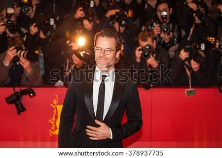 Berlin, Germany - February 16, 2016  - Actor Guy Pearce attends the 'Genius' premiere during the 66th Berlinale International Film Festival - stock photo