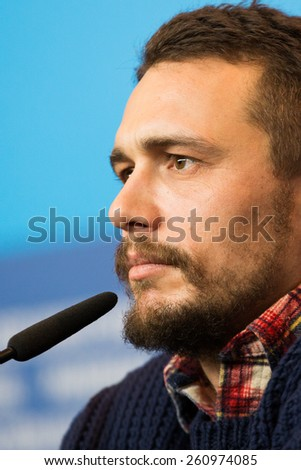 BERLIN, GERMANY - FEBRUARY 06: Actor  James Franco attends the 'Queen of the Desert' press conference during  65th Film Festival at Hyatt Hotel on February 6, 2015 in Berlin, Germany. - stock photo