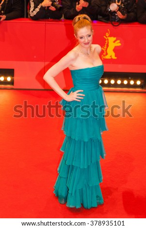 Berlin, Germany - February 17, 2016  - Actress Julie Agnete Vang attends the 'The Commune' (Kollektivet) premiere during the 66th Berlinale International Film Festival - stock photo