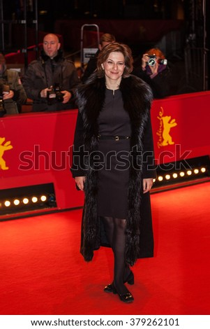 Berlin, Germany - February 18, 2016  - actress Martina Gedeck attending the 'A Lullaby to the Sorrowful Mystery' (Hele Sa Hiwagang Hapis) premiere during the 66th Berlinale International Film Festival - stock photo