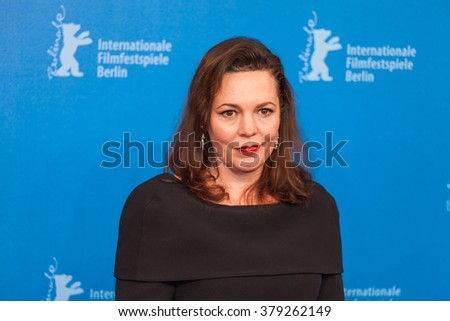 Berlin, Germany - February 18, 2016  - Actress Olivia Colman attends the 'The Night Manager' premiere during the 66th Berlinale International Film Festival - stock photo