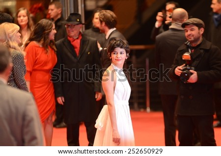 "BERLIN - GERMANY - FEBRUARY 14: Audrey Tautou at the 65rd Annual Berlinale International Film Festival ""Abschlussgala"" at Berlinale Palast on February 14, 2015 in Berlin, Germany"