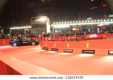 BERLIN, GERMANY - FEBRUARY 16: Berlinale Palast, red carpet the main venue at the 63th Berlinale International Film Festival on February 16, 2013 in Berlin, Germany