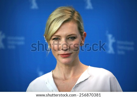 BERLIN, GERMANY - FEBRUARY 13: Cate Blanchett attends the 'Cinderella' photocall during the 65th Berlinale International Film Festival at Grand Hyatt Hotel on February 13, 2015 in Berlin, Germany. - stock photo