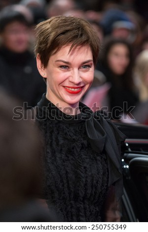 BERLIN, GERMANY - FEBRUARY 05: Christiane Paul. Nobody Wants the Night, Opening Night premiere  65th Berlinale International Film Festival at Berlinale Palace on February 5, 2015 in Berlin, Germany - stock photo
