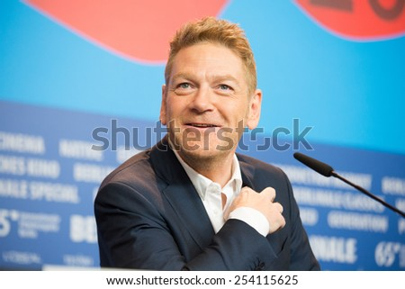 BERLIN, GERMANY - FEBRUARY 13: Director Kenneth Branagh, 'Cinderella' press conference, 65th Berlinale International Film Festival at Grand Hyatt Hotel on February 13, 2015 in Berlin, Germany  - stock photo